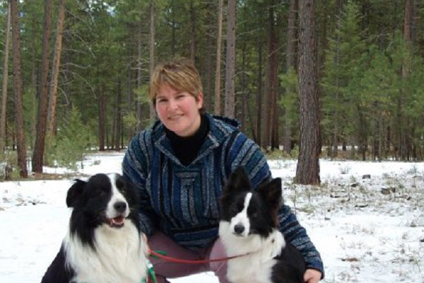 Photo of Danette Paige with dogs
